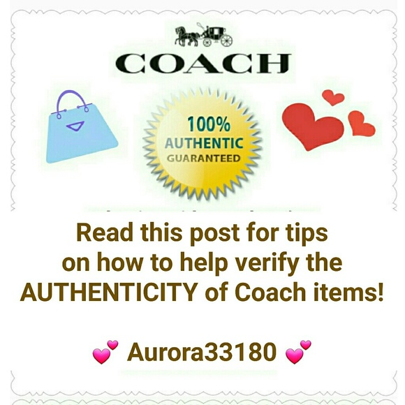 Coach Handbags - Basic Guide to buying AUTHENTIC Coach products!